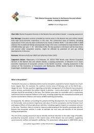 Marine Ecosystem Services in the Barents Sea and Lofoten ... - TEEB