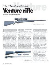 Venture Australian Shooter February 2010 - Frontier Arms