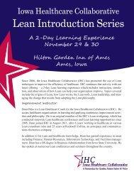 Lean Introduction Series - Iowa Healthcare Collaborative