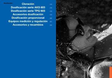 Cloración Dosificación serie AKS 603 Dosificación serie ... - Ionfilter