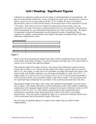 Unit I Reading: Significant Figures