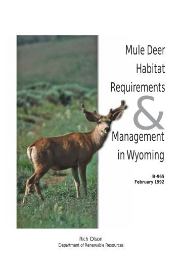 Mule Deer Habitat Requirements Management in Wyoming
