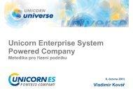 Unicorn Enterprise System Powered Company, Metodika pro řízení