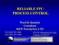 RELIABLE FPI / PROCESS CONTROL