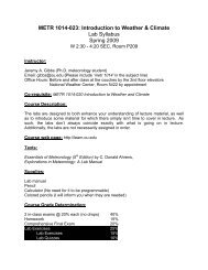METR 1014-023: Introduction to Weather & Climate Lab Syllabus ...