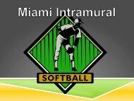 Softball Rules update 3-14-12.pdf - Miami Recreation