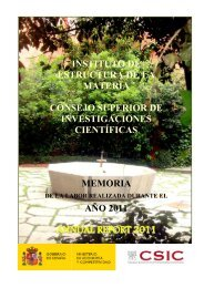 ANNUAL REPORT 2011 - Instituto de Estructura de la Materia