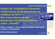 Einfluss der Variabilität der thorakalen Atembewegung auf die ...