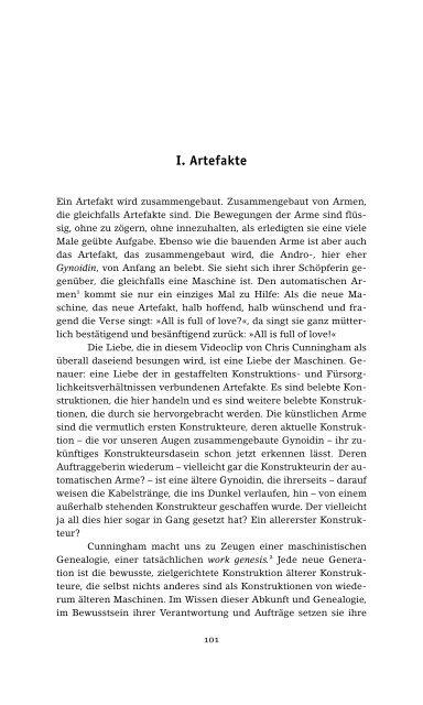 Kontinuum I. Artefakte II. Die Bewegungsform III ... - Mediumflow.de