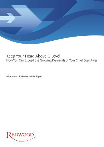 Keep Your Head Above C-Level - Redwood Software