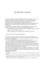 Rôle de la figure et apprentissage - IREM de Rennes