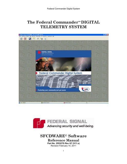 Federal Commander Manual - Federal Signal
