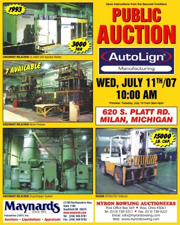 Auctions - Maynards Industries