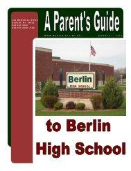 Parent's Guide To Berlin High School - Berlin Area School District