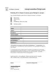 Anmälningsblankett och villkor för autogiro (pdf i nytt ... - Arvidsjaur