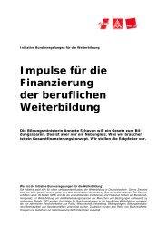 Finanzierung der beruflichen Weiterbildung - Einblick-archiv.dgb.de