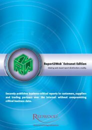 Report2Web - Extranet Edition - Redwood Software