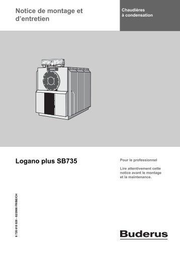 Notice de montage et d'entretien Logano plus SB735 - Buderus