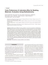 Color Preferences of Laboratory Mice for Bedding Materials ...