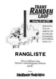Rangliste 1990 - LWS Langlaufwandergruppe Schaffhausen