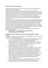 Společné televizní antény a digitalizace Stanovisko Ministerstva ...