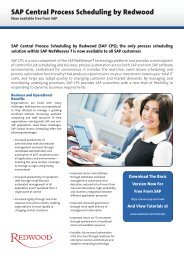 SAP Central Process Scheduling - Redwood Software