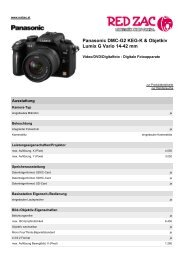 Panasonic DMC-G2 KEG-K & Objetkiv Lumix G Vario 14 ... - Red Zac