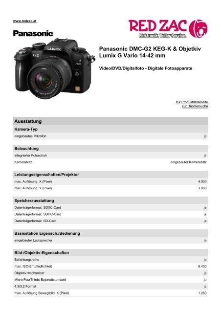 Panasonic Dmc G2 Keg K Objetkiv Lumix G Vario 14 Red Zac