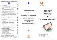 Téléchargez le dossier patient - Centre hospitalier de Montauban