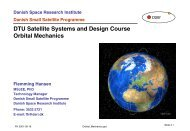 DTU Satellite Systems and Design Course Orbital Mechanics - CRN