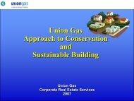 Union Gas Approach to Conservation and Sustainable Building