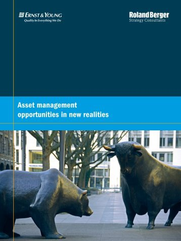 Asset management opportunities in new realities
