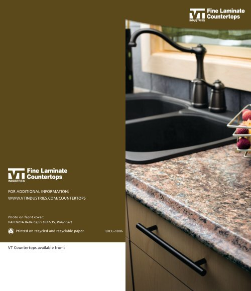 Vt Countertops Available From For Additional Information