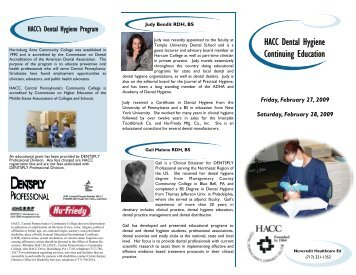 HACC Dental Hygiene Continuing Education - HACC Newsroom