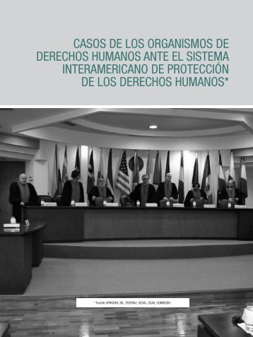 Casos antes el Sistema Interamericano de Derechos Humanos
