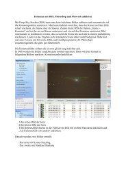 Kometen mit DSS, Photoshop und Fitswork addieren
