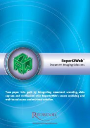 Report2Web - Document Imaging Solutions - Redwood Software