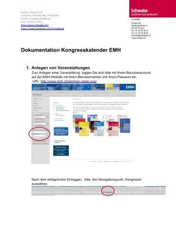 Anleitung für den EMH-Kongresskalender