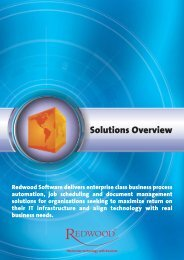 Redwood Solutions Overview - Redwood Software