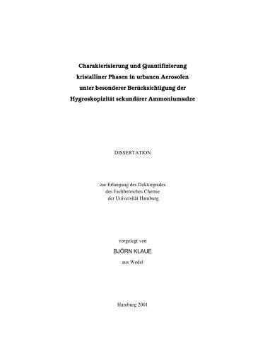 Kurztext - Chemie - Universität Hamburg