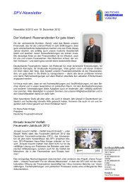 DFV - Newsletter 05/2012 - Deutscher Feuerwehrverband
