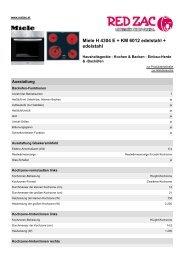 Produktdatenblatt Miele H 4304 E + KM 6012 edelstahl + ... - Red Zac
