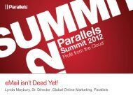 eMail isn't Dead Yet! - Parallels