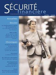 avril 2000 - Chambre de la sécurité financière