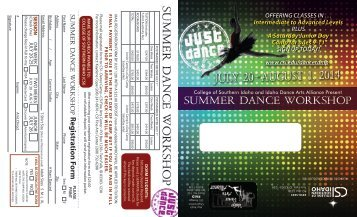 Dance Camp Registration Form - College of Southern Idaho