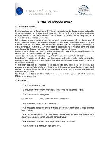 IMPUESTOS EN GUATEMALA - Uccs-america.org