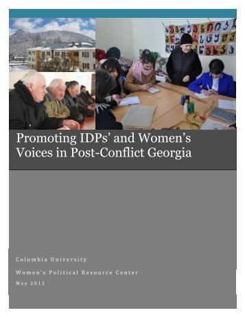 Promoting IDPs' and Women's Voices in Post-Conflict Georgia