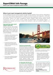 Report2Web Safe Passage - Redwood Software