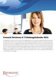 Cronacle Versionen 6-7 Schulungskalender 2011 - Redwood ...