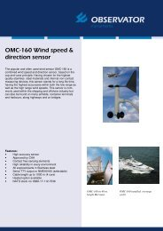 OMC-160 Wind speed & direction sensor
